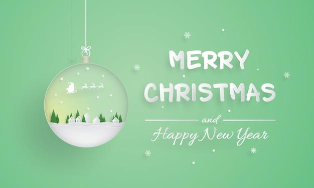 Frohe weihnachten und guten rutsch ins neue jahr, verzierung