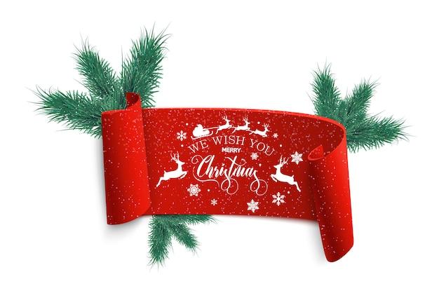 Frohe weihnachten und guten rutsch ins neue jahr, weihnachtsverkaufsfahne.
