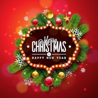Frohe weihnachten und happy new year design