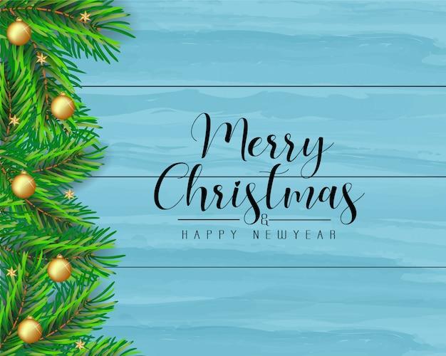 Frohe weihnachten und happy new year grußkarte