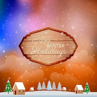 Frohe weihnachten und happy new year-grußkarte