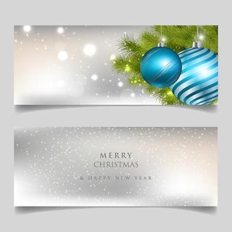 Frohe weihnachten und happy new year-karte