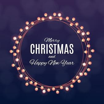 Frohe weihnachten und happy new year poster