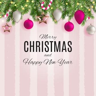 Frohe weihnachten und happy new year poster.