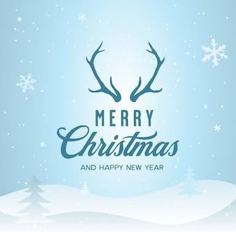 Frohe weihnachten und happy new year schriftzug vorlage. grußkarte oder einladung