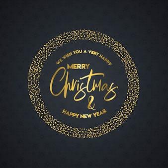Frohe weihnachten und happy new year-schriftzug