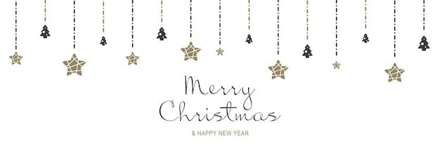 Frohe weihnachten und neujahr 2022 poster weihnachtsminimalbanner mit feiertagssymbolgrenze