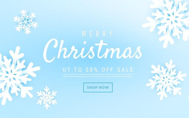 Frohe weihnachten und neujahr abstrakte vektorillustration mit winterschneeflockenlandschaft