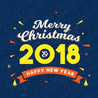 Frohe weihnachten und neujahr feier layout.