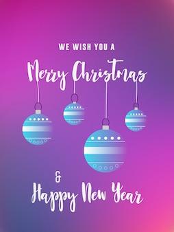Frohe weihnachten und neujahr gruß einladungskarte