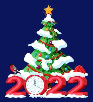 Frohe weihnachten und neujahr gruß weihnachtskarte