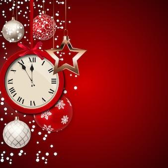 Frohe weihnachten und neujahr hintergrund. vektor-illustration