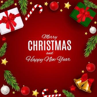 Frohe weihnachten und neujahr hintergrund.