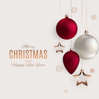 Frohe weihnachten und neujahr hintergrund