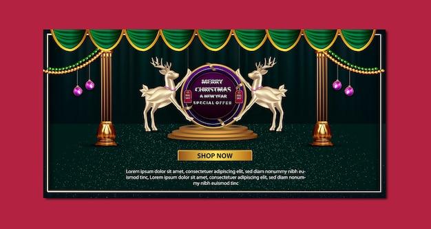 Frohe weihnachten und neujahr promotion banner