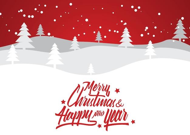 Frohe weihnachten und neujahr typografische schriftzug banner
