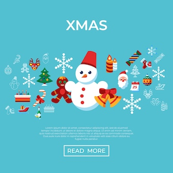 Frohe weihnachten und winterurlaub-ikonensammlung