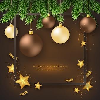 Frohe weihnachten urlaub hintergrund.