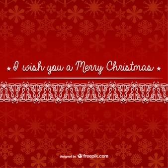 Frohe weihnachten vektor mit schneeflocken-muster