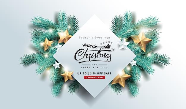 Frohe weihnachten verkauf banner hintergrund