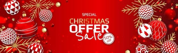 Frohe weihnachten-verkauf-banner-vorlage. grußkarte, banner, poster, header für website