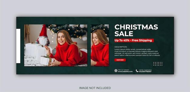 Frohe weihnachten verkauf social-media-post-web-banner