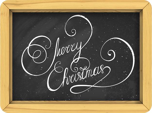 Frohe weihnachten vintage text handgeschriebene beschriftung