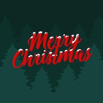 Frohe weihnachten waldkarte