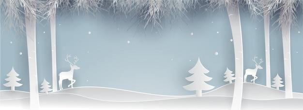 Frohe weihnachten winter hintergrund.