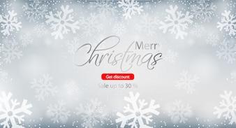 Frohe Weihnachten Winter Sale Broschüre