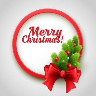 Frohe weihnachtsbaum-grußkarte