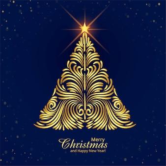 Frohe weihnachtsbaumfestkartenhintergrund