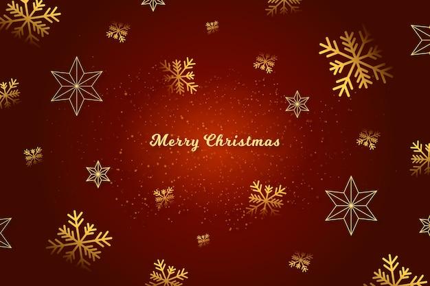 Frohe weihnachtsbotschaft auf rotem hintergrund