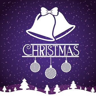 Frohe weihnachtsdekoration