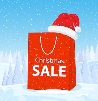Frohe weihnachtseinkaufstasche