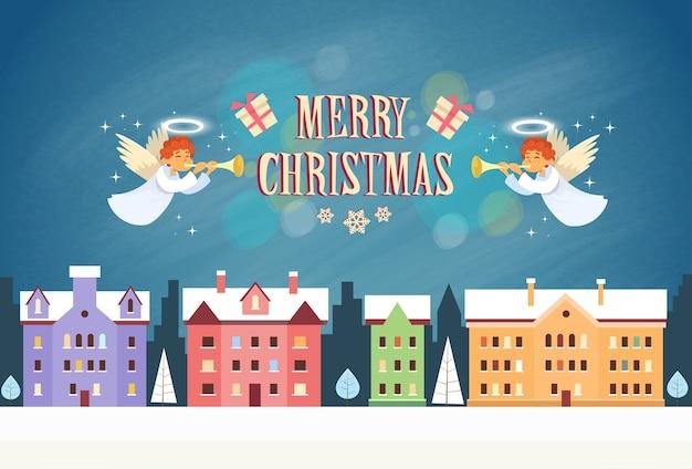 Frohe weihnachtsengel