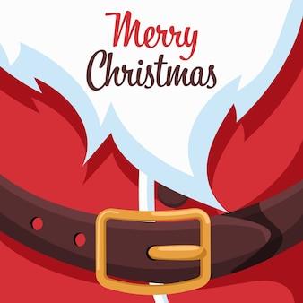 Frohe weihnachtskarte design mit weihnachtsmann leine