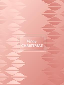 Frohe weihnachtskarte mit rosa dekorativen elementen vector trendigen hintergrund