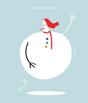 Frohe Weihnachtstageskonzeptillustration