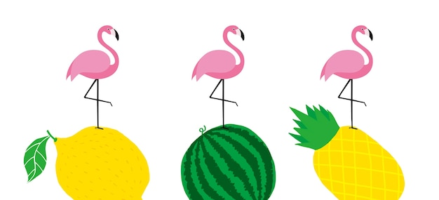 Froher frühlingssommer des rosa wilden blattes und des flamingos