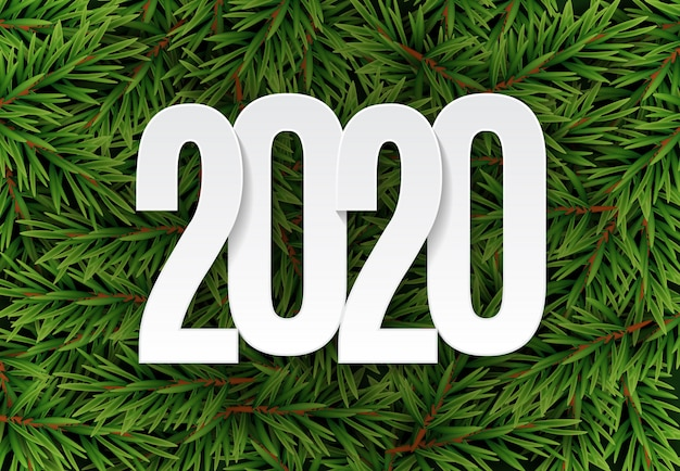 Frohes 2020 neujahr hintergrund