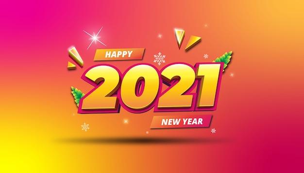 Frohes 2021 neujahrsgradientenhintergrund