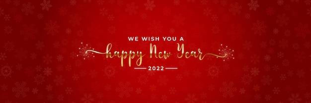 Frohes 2022 neujahrsgrußbanner
