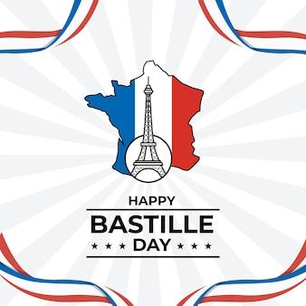 Frohes bastille-tag-feier-konzept