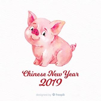 Frohes chinesisches neues jahr 2019