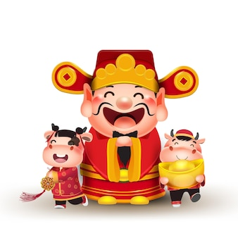 Frohes chinesisches neujahr 2020 elemente