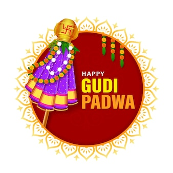 Frohes gudi padwa hindu neujahrsfest ugdi feier