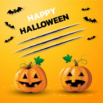 Frohes halloween-tagesbanner