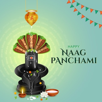 Frohes naag panchami indianerfest