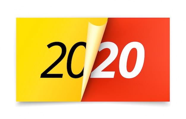 Frohes neues 2020-jähriges konzept